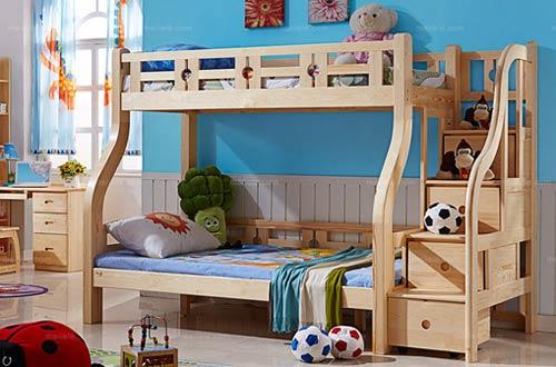 中式风格双层儿童床设计