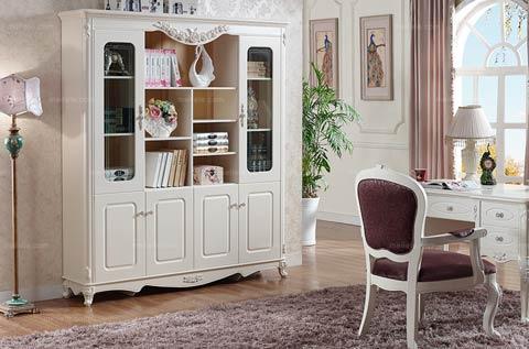 法式风格奢华浪漫书柜摆放
