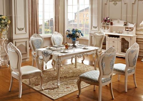 欧式田园餐桌设计