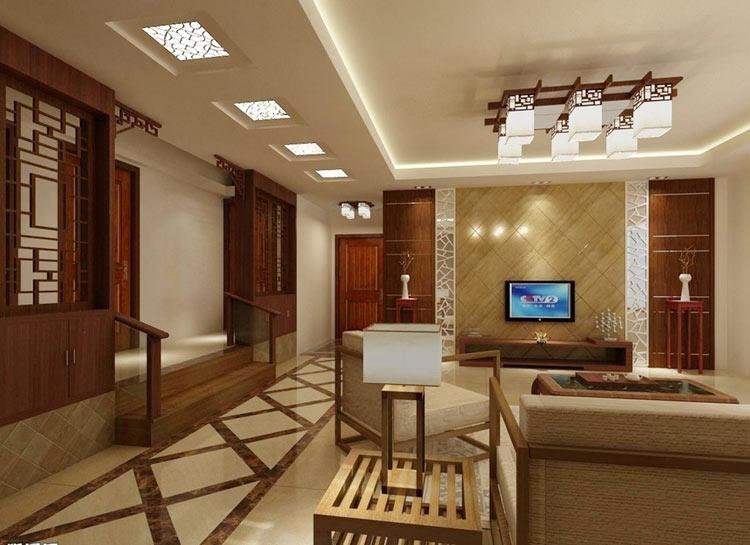 大麦装饰中式客厅设计