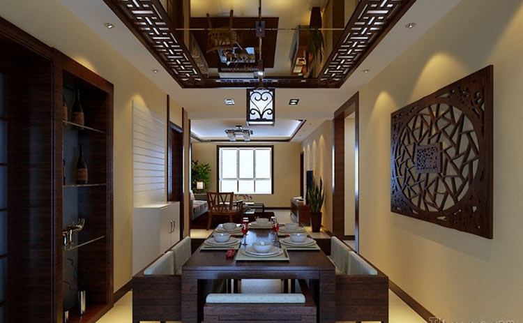 大麦装饰中式餐厅设计